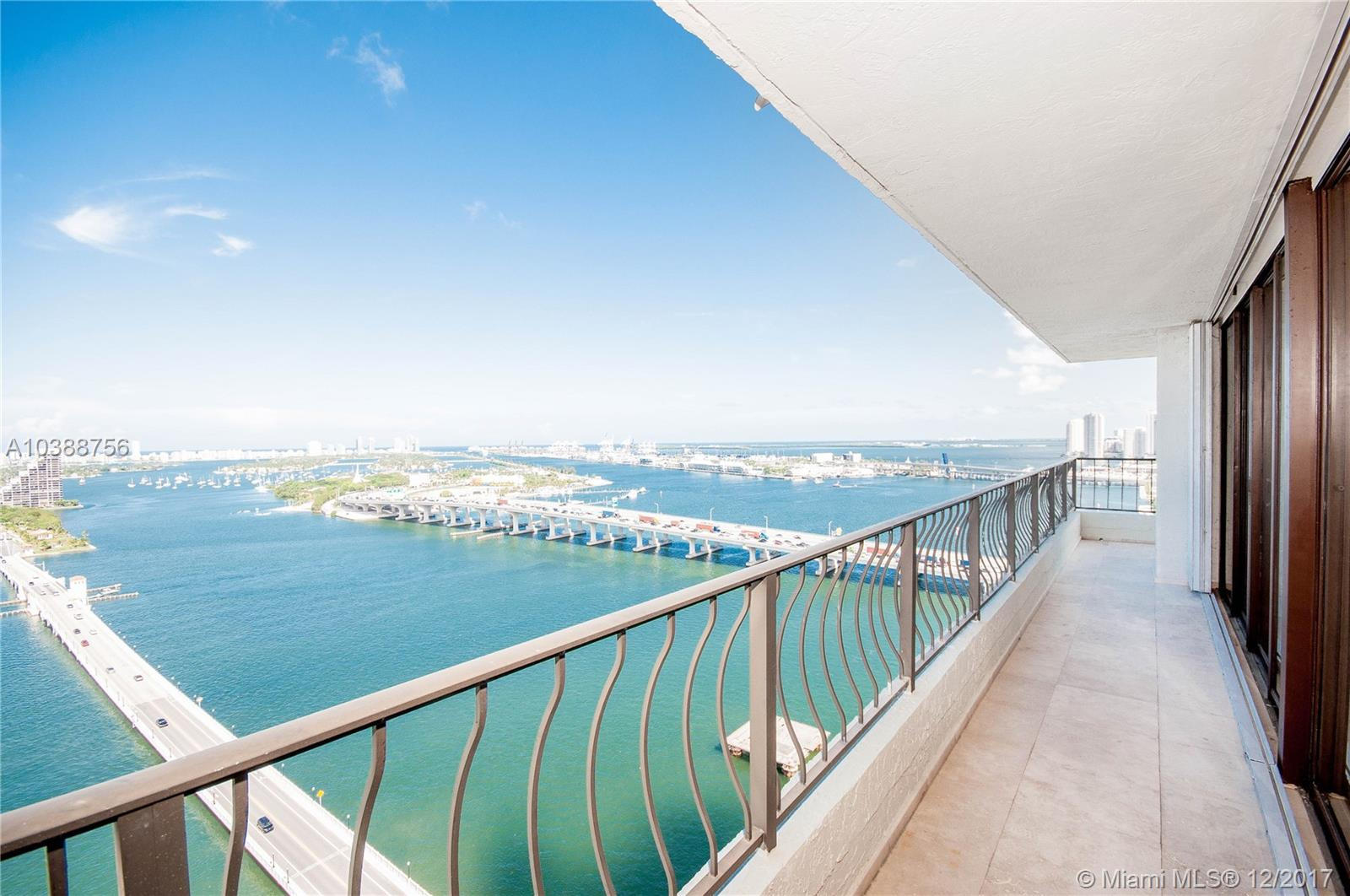 Views For Miles!! This Corner Unit Offers Unobstructed Views Of Biscayne Bay Over The Venetian Islands, Port Of Miami And Even Downtown Miami Skyline. This Rare 2 Bedroom Residence Has A Wrap-Around Balcony With Marble Floors And Updated Kitchen And Bathrooms. Second Bedroom Has Been Opened To Living But Can Be Easily Be Closed. Unit Comes With 2 Parking Spots, Washer/Dryer Inside Unit And Has Bonus Office. Location Makes The Venetia So Desirable, Steps From Pamm, Frost Museum, Arsht Center For The Performing Arts, American Airlines, People Mover Station, Trolley Into Downtown Miami, Bayfront Park. This Is The Heart Of The A&E District With Spectacular Views - Miami Lifestyle At Its Best!