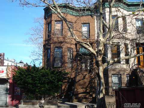 3 Family Semi-Detached Brownstone W/Courtyard New:Boiler, Hot Water Heater, Electric, 3Yr Young Roof, 2 Fireplaces, Parquet Floors. Great Investment Opportunity