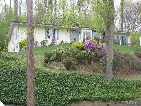 The Adventure Of 'Country Sophistication'...You'll Love The Very Nature Of It! Country Rancher W. 4 Bds,Lr, Dr, Eik, Den, 2 Fplc, Sep Guest Suite Plus Legal Sep 2 Bdrm Cottage, Sits On 2 Plus Beautifully Wooded Acres...Won't Last!!!