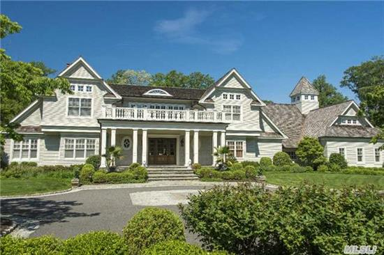 Architectural Masterpiece. Harriman Estates Colonial. 8000 Sq Ft (W/O Bsmnt) , 7Brs/8.55 Bths. Truly A Shangri-La W/Pristine Landscaping, Gunite Pool And Hot Tub. Tennis/Sports Ct. Outdoor Kit. And Fire Pit. Walk Out Lower Level With Gym, Media Center, And Sleeping Quarters. Control4 Home Automation System. Generator.
