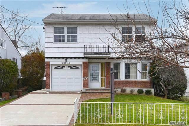 One Family Home With Split Level Layout In Beautiful And Quite Douglaston Neighborhood. Spacious Bright Rooms, Large Eat-In-Kitchen With Exit To Balcony And Backyard, Master Bedroom Has Walk-In Closet. Cac,  Lots Of Closets, Private Backyard. One Car Garage With Driveway. Conveniently Located Close To Local Shops, Restaurants, Sd#26. Few Blocks To Lirr. A Must See!