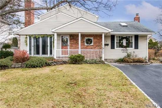 Move Right Into This Cozy 4 Bedroom 2 Bath Expanded Ranch On A Quiet Street In Syosset Groves. This Home Offers A Large Den W/ Cathedral Ceilings & 2 Skylights. Lr Or Den W/Hardwood Floors; Fireplace, Eik W/ Wood Cabinets & Granite Counters W/Gas Stove 2nd Fl Has A Master Suite W/Walk In Closet,  A Full Bath And Jacuzzi, Den. Flat Spacious Yard. New To Market, Wont Last