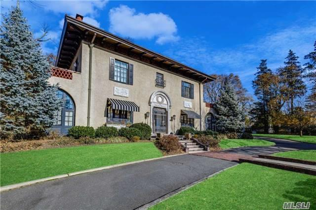 Circ. Drive Leads To 1-Of-A-Kind Palatial Mediterranean In Kensington,  Built By Steinway Family & Beautifully Restored. Formal Entertaining Rooms Combine Old World Charm & Construction With Modern Conveniences. Double Kosher Kitchen/Radiant Floors, Sep. Guest Quarters Thru Private Entry:Kitchen;Br/Sitting Room, Full Bath; Priv. Police, Swimming...Too Much To Describe!