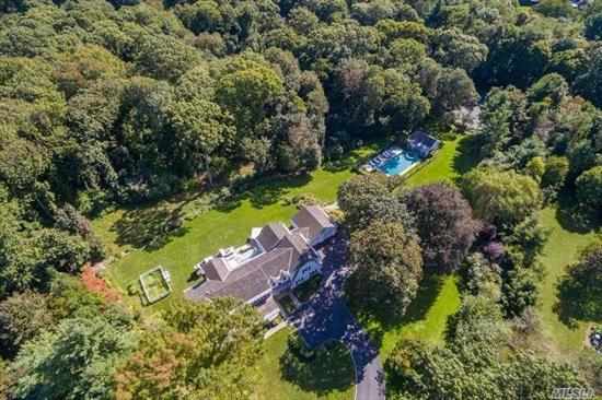 Thoughtfully Rebuilt Board And Batten Detail Colonial Situated On A Quiet Cul-De-Sac Backing The Muttontown Preserve. Beautiful Antique Wood Floors, Moldings And Fine Craftsmanship Complement Generous Rooms. Crisp White Custom Kitchen, Center Island And Breakfast Nook. Adjacent Den Is A Welcoming Hub Of The Home. Summer Retreat With Pool, Poolhouse And Tennis.Jericho Sd.