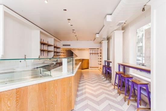 Classic, Corner Location! Bleecker & Cornelia. Space includes 18ft of frontage on Bleecker St and 54ft of frontage on Cornelia Street. Turnkey cafe, approx 1, 000 sq ft main floor with direct access to basement and includes HVAC and refrigeration.   Great Foot & Tourist Traffic. Neighbors include Tacombi, Murray's Cheese, & John Pizzeria.  **Space is divisible. $18, 995 for the corner space, $8, 995 for the in-line space**  Please call 917-261-6561 for more information or to schedule a viewing.