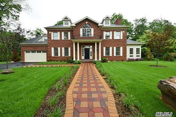 Kensington Village Grand Custom Brick Colonial 5200 Sq Ft + 2500 Sq Ft Basement, Hvac, Radiant Heat. Featuring 6 Bed, 7.5 Bathrooms, En Suite Master W/ Dome Ceiling, Pella Windows, Double Height Foyer, Radiant Heat, Sub Zero~wolfappliances, Custom Craftsmanship & Materials. Designated For Baker Hill Elemen & Choice Of N Or S Hs, Parkwood Pool, Kensington Pool. Private Police. Close To Lirr, Shops, Town, Worship. This One Of A Kind Incomparable Property, Traditional Layout, Unparalleled Upgrades.