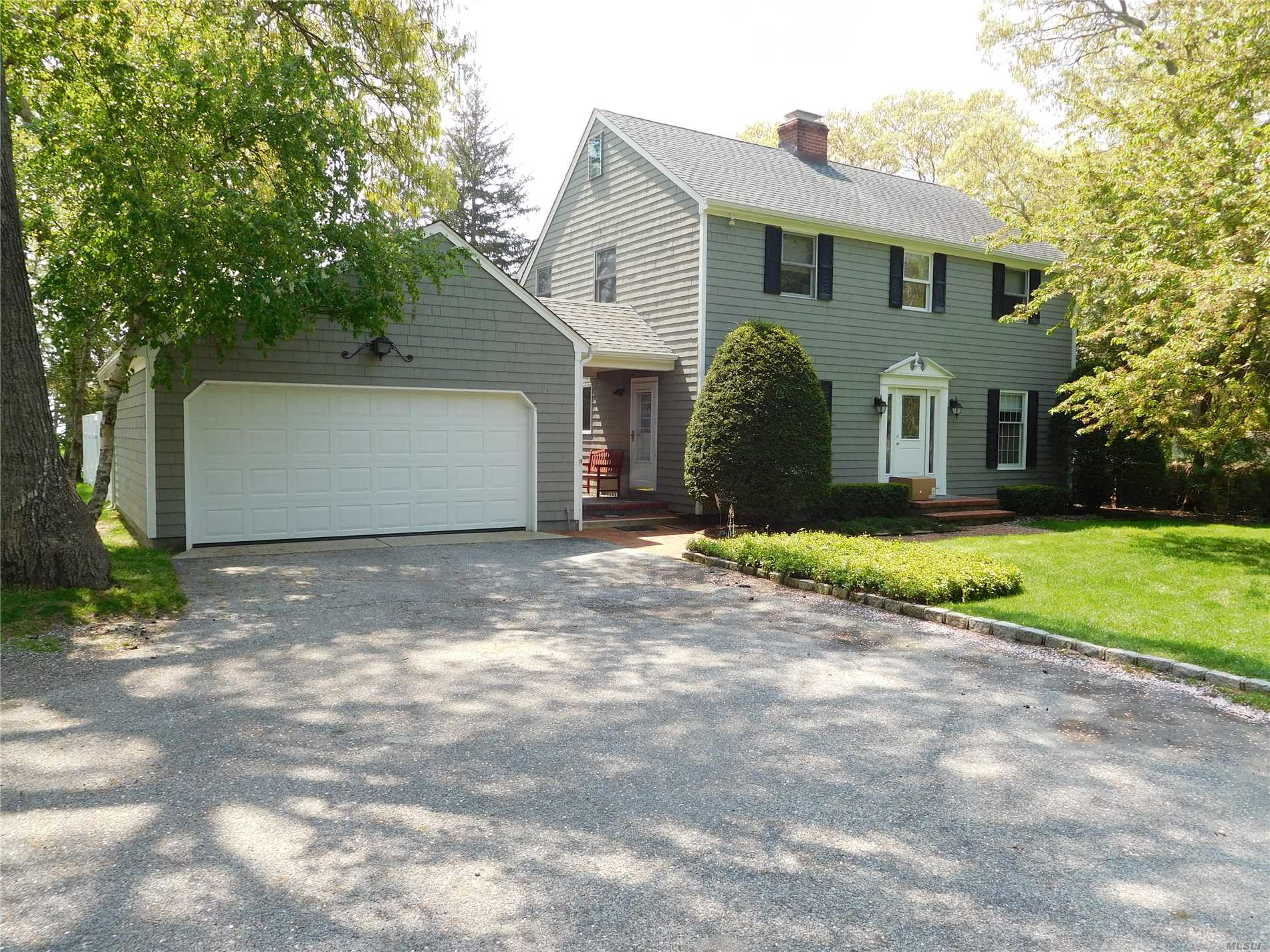 Bayview 2 Story. 200' To Deeded Sandy Beach. 4 Brs, 3.5 Baths, Living Room With Fireplace, Family Room With Fireplace, Kitchen & Formal Dining Room. Hw Floors And Cac. Full Basement, 2 Car Garage With Attic, Brick Patio And Stand Up Attic. New Heat, New Hot Water Heater, New Roof And Newly Painted Cedar Shake Exterior.