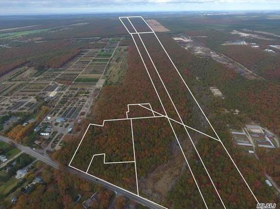 Huge Price Reduction!! Exceptional Development Opportunity.! Listing Includes 11 Separate Properties Totaling 134 Acres In Both Eastport South Manor And Remsenberg School Districts. There Is A Potential Yield Of 18-20 Units In A Cluster Type Subdivision. Call For Additional Details.