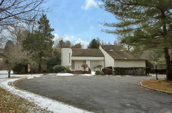 Spectacular Contemporary On 2 Acres Of Flat Land.Home Offers A Gracious Living Room, Wb Fire Place, Formal Dining Room, Eat In Kitchen S/S Appl, 6 Bedrooms Incl.A Master Ensuite, 4 Full Baths, Full Finished Basement, 3 Car Garage.Splendid Backyard Features A Gunite Pool, Lighted & Fenced Tennis Court, A Gazebo, All Connected By A Scenic Bridge Overlooking A Brook.A Must See!