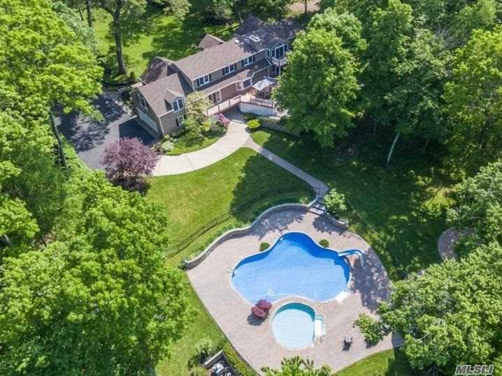 5 Acre Mill Neck Retreat Sprawling Turn-Key 11 Room, 7 Bedroom, 5.5 Bath Totally Renovated Sun-Lit Farm Ranch With In Ground Pool, Hot Tub, Pool House. Complete With First Floor Guest Suite, Maids Room, Lower Level Walk Out Basement, Built In Barbeque And Attached 4 Car Garage. Multi Level Decking And Fire Pit Complete This Beautiful Calf Farm Road Estate.