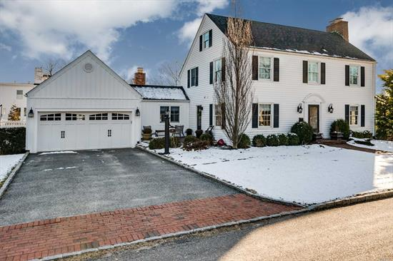 Charming Colonial In Babylon Village. 4 Bed, 2 1/2 Bths, Eik, Mudroom, Office, Sunroom, Den W/Gas Fireplace, Lr/W Wood Burning Fp, 2nd Fl Laundry, 2 Car Att Garage. Open Layout, Cac. Completely Renovated, Ig Salt Water Heated Pool W/Waterfall, Entertainers Dream Backyard, Close To Town & Boat, X-Flood Zone, No Water In Sandy. The House You Have Been Waiting For!