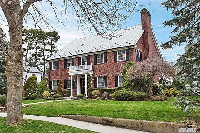 The Quintessential Classic Brick Georgian Colonial,  Arguably One Of The Grandest Homes In This Beautiful Pocket Of The Estates.  All Updated/New Inside W/All Work Done W/ 'Forever' In Mind. Brand New Vermont Slate Roof,  All New Copper Leaders & Gutters,  All Updated Mechanicals,  New Pella Windows. 7 True Bedrooms,  5 On 2nd Floor,  Beautiful Master,  Amazing Coffered Family Rm