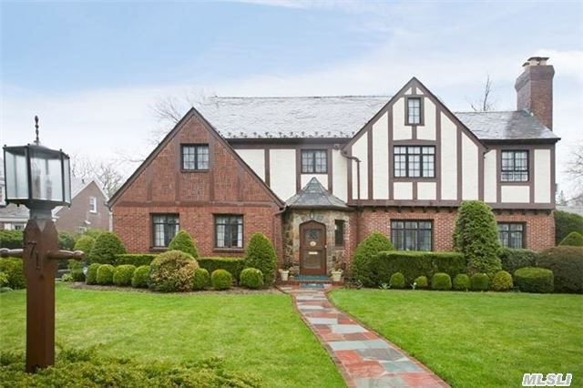 Spectacular English Tudor Revival Built As A Truly Bespoke Example Of The 'Garden City Company' Homes. Magnificent Interiors W/A Focus On Preserving The Elegance Of The Early 1930'S While Keeping Current W/The Modern World. Features 6 Bedrms, 5.5 Bths, Sunken Liv Rm, Library, Amazing Master Ste. Taxes Being Grieved To Approx $30K