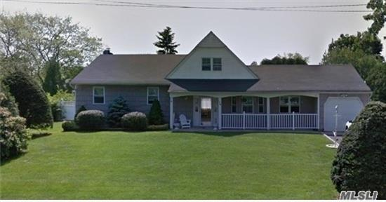Lovely Large Farm Ranch With Great Curbside Appeal In Nys Accredited Comsewogue Sd. Very Low Taxes At $8945 W/Star.Great Fenced, Large, Clear Property With Igp W/ 2 Yr Old Liner & 3 Yr Old Motor. Lg, Ent Hall, Formal Dr, Updated Eik, Den W/Brick Fp, Lv. 4 Bdrms, 2.5Bth, Sep Ose Upstairs Off Of Lg Bdrm. Partial Bsmt Finished. 1 Car Gar. Roof, Siding & Kitchen 10 Yrs Young.