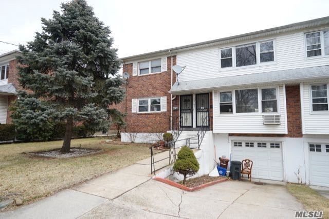 Well Maintained Excellent 2 Family Home In Flushing. Drenched In Sunlight All Day. Each Apt Has The Spacious 2 Bedrooms, Full Bath, Large Living Rm, Formal Dining Rm, Open Concept Eat-In Kitchen, And The Hardwood Flr Throughout. Fully Finished Basement Has An Open Layout For The Family Entertaintment. 1 Car Garage. Near Lirr, Buses, Kissena Park, Shopping, Hospital.