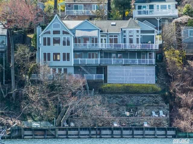 Best Waterviews In Hbca! Stunning 3/4-Bd,  3.5-Ba Colonial With 80' Waterfront In A Centerport Beach Assn! Rebuilt/Expanded 2004 - Elegance Abounds With Open Flr Plan And Dazzling Waterviews From Every Room. 3 Levels Of Decks. Beach Access. 2-Car Att Garage. Finished Basement. Cac,  Gas Heat & Cooking & More! Pvt Beach And Mooring Rts. Be The Proud Owner!
