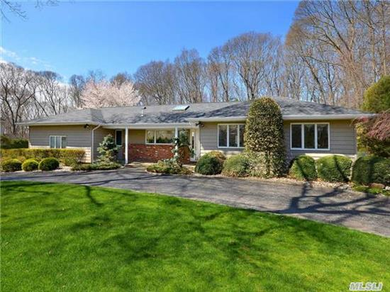 Lovely Sprawling Ranch On An A Lush Landscaped Acre With An In Ground Pool.