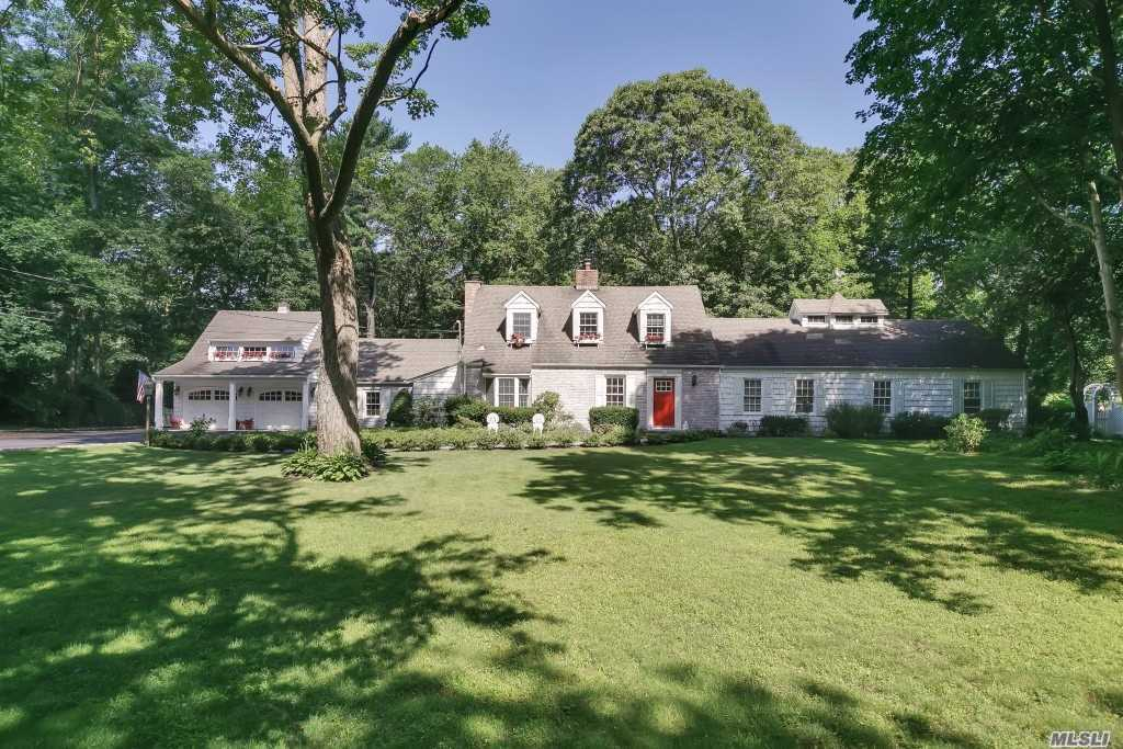 Low Taxes! South Facing, Sun-Filled Brookville Home On 2 Acres. New Gourmet Eat-In-Kitchen With Adjoining Great Room, New White Marble Master Bath, 2 Fireplaces, 5Bedrooms, 4 Baths, New Roof,  Windows And Updated Family Baths. Estate Area With Ease Of Access To All Major Arteries, Lirr, Shopping Mall, Shops And Golf.
