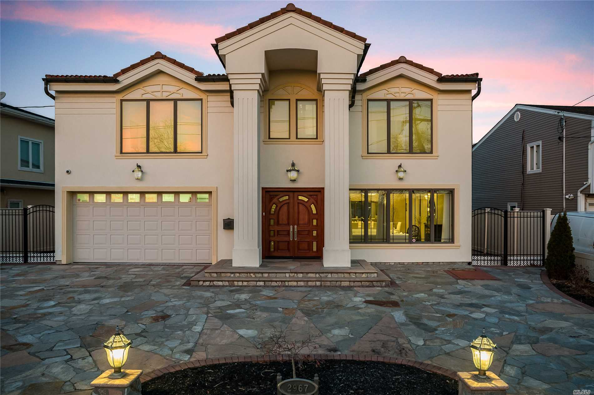 Magnificent, Unique Custom Built Contemporary Masterpiece! State Of The Art, Energy Efficient. Radiant Heat, 4 Bdrm, Plus Private Office, 4.5 Bths, 4 Gas Fireplaces, Imported Granite Floors & Brazilian Cherrywood, Radiant Heat On 3 Levels. Chef's Kitchen W/Wolf Stove, 2 Dishwashers, Breakfast Island W/Sink, 2 Subzero's, 3 Ovens. Wall Of Glass Looking Over Endless Water Views.Terra-Cotta Roof, Too Much To List. See Attachment Discription
