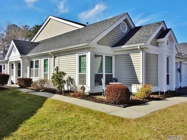Home Awaits You In This Beautifully Updated Greenport Model W/Serene Oversized Backyard. Largest Attached Model (1, 635 Sq.Ft Plus Garage). Bright & Spacious W/Open Floor Plan, New Windows, Vaulted Ceilings, Lr, Dr, Den, Eik, Master Suite/Bath/Walk-In Closet, 2nd Br, Ba. 55+ Active Community Of Leisure Glen-24 Hr.Guard-Gated. Clubhouse, Pool, Tennis, Gym, & So Much More...