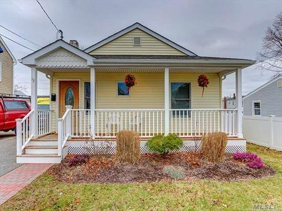 Completely Renovated & Updated Ranch On The Water In Amityville. Features Include 2 Bedrooms, 1.5 Baths, Large Eat-In-Kitchen, Perfect For Entertaining! Great Backyard With Deck And Beautiful Views!