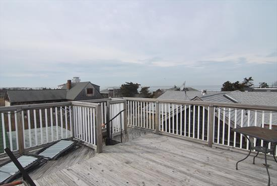 This home has been recently renovated, featuring 4 bedrooms, 1.5 baths. Beautiful kitchen that is open o the living and dining room. Spacious back deck that is great for entertaining! Enjoy the sunset from the roof top deck over looking the bay! Close to Ocean Beach and the Summer Club clubhouse and bay beach.