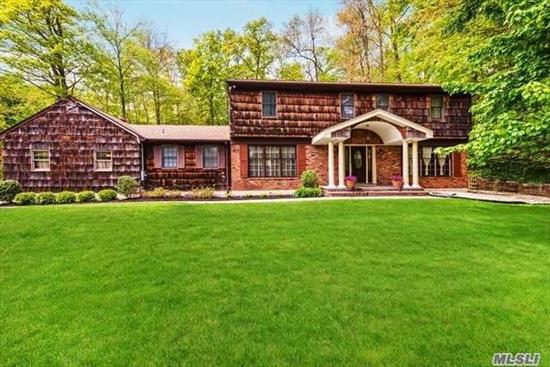 Mint Condition Center Hall Colonial Tucked Onto A Private Hilltop Lot On Historic Downs Rd. Extended Eik, W/Chef's Appl & Ample Granite Counters, Rad. Heated Flrs. Sliders To Secluded Yard. Fml Dr, Fam Rm W/ Fpl. Impressive Master, Crown Molding, Wood Flrs, Cac. Smart Home Technology Bsmt W/ O/S Entrance, 2 Car Gar. Stunning Setting Amid Acres Of Horse & Walking Trails.