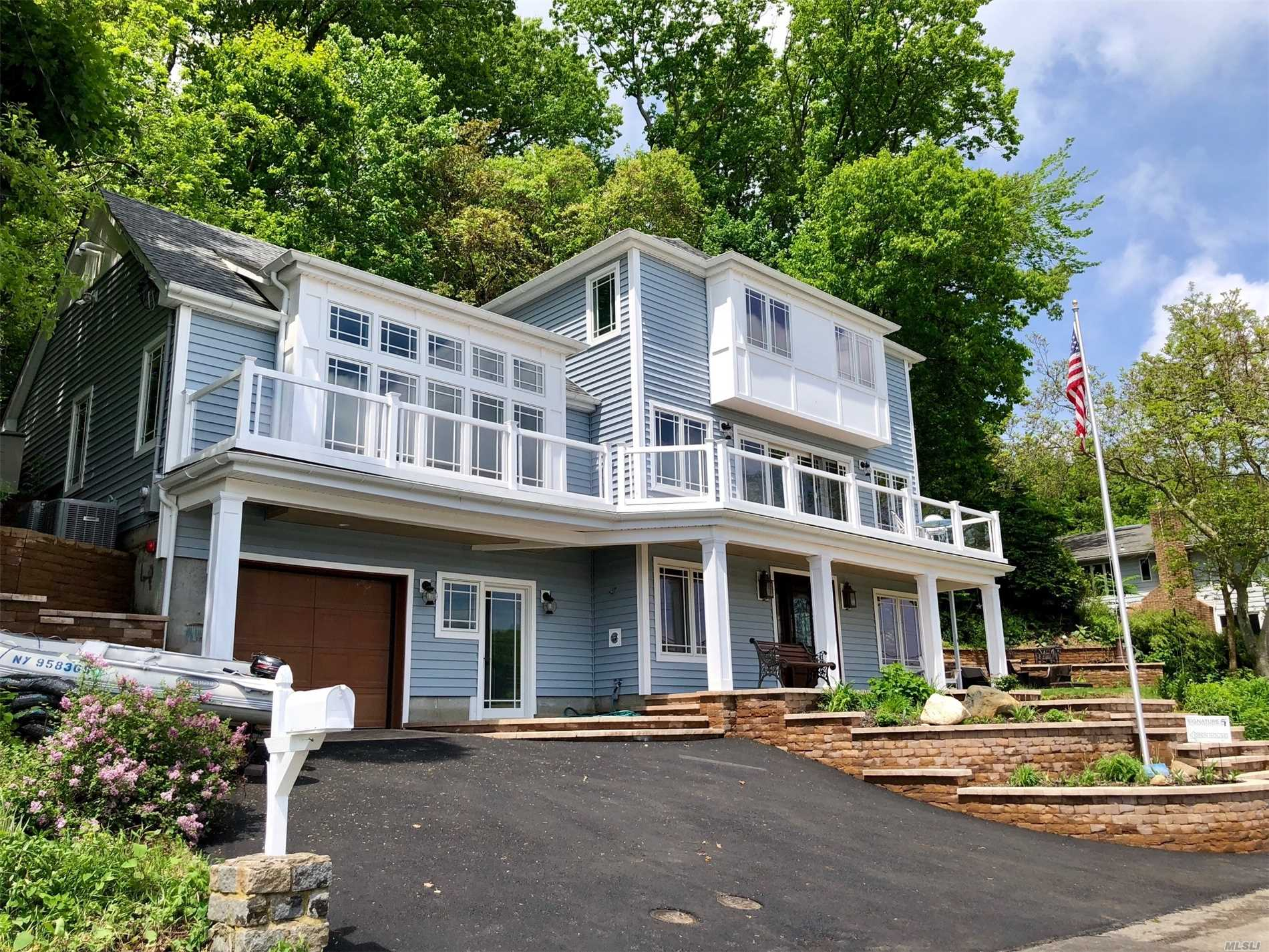 New Construction Waterfront Contemporary With Wrap Around Water Views From Every Room! 3 Floors Of Living Space, 3 Bedroom, 2.5 Baths With Plenty Of Room For More Bedrooms. Chef's Kitchen With Radiant Heat Floor. Thermadore Appliances, Huge Mediterranean Quartzite Island, Wet Bar, Master Suite With Huge Radiant Heat Bath. Standby Generator, Outdoor Shower, Hbca Beach/Dock!