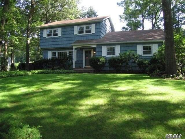 Tremendous Potential In This Shoreham North Colonial Offering 3 Levels Of Living And Great Floor Plan. Wood Floors In Living Rm, Dining Rm & Den Which Has A Wood Burning Fireplace. Full Bath On First Floor. Updated Kitchen With Granite Tops And Breakfast Bar. Finished Lower Level With 2 Rooms, Storage & Utilities. Gunite Pool, Multi Level Decking.