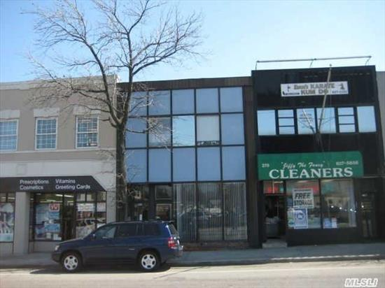 Two Story Office Building W 2, 900Sq Plus 1, 220Sq On The Low Level; Next To Manhasset Lirr Train Station, Busy Street Close To All. All Information Is Reliable But Not Guarantee.