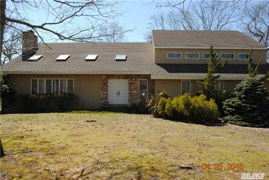 Turn Key!, Bright, Open & Airy 4 Bed, 2.5 Bath Contemp. On .55 Acres In Private Beach Community W/Water Views. Close To Town, Ocean Beaches And All The Hamptons Has To Offer.Open Floor Plan With Eik, Formal Dining, Stunning Stone Wbf.Ms W/Oversized Closets, Shower, Jacuzzi And Balcony W Water View! 2.5 Garage, Full Base, Room For Pool Perfect Family Living Or Summer Retreat