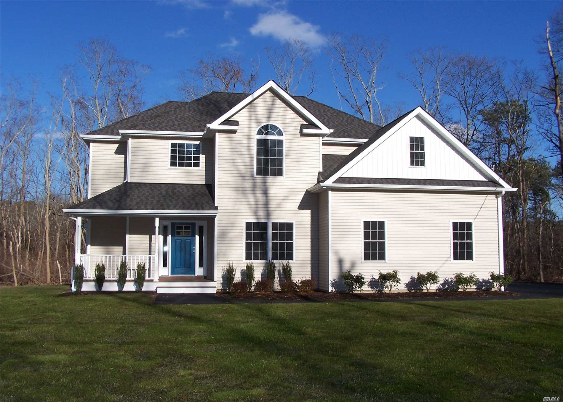 . New Construction Tan House, Great Location , On A 2 Acre Lot! Features Master Suite W/Full Bath & Walkin Closet, Granite Eat-In-Kitchen, Formal Dining Room, Gas Fp & Gas Stove Hardwood Floors On 1st Floor, Carpet On 2nd, Cac, Full Basement With Ose. Builder To Give Allotment For Appliances! $1800.