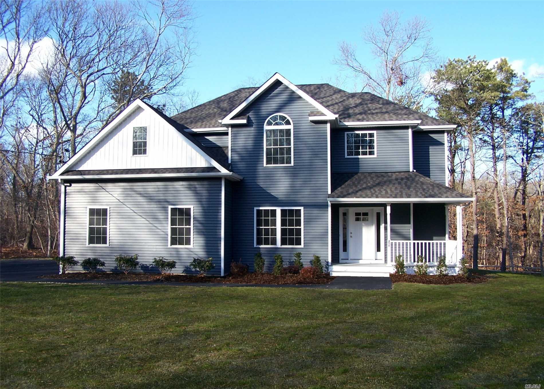New Construction, Blue House Great Location , On A 2 Acre Lot! Features Master Suite W/Full Bath & Walk In Closet, Granite Eat-In-Kitchen, Formal Dining Room, Gas Fp & Gas Stove Hardwood Floors On 1st Floor, Carpet On 2nd, Cac, Full Basement With Ose. Builder To Give Allotment For Appliances! $1800.