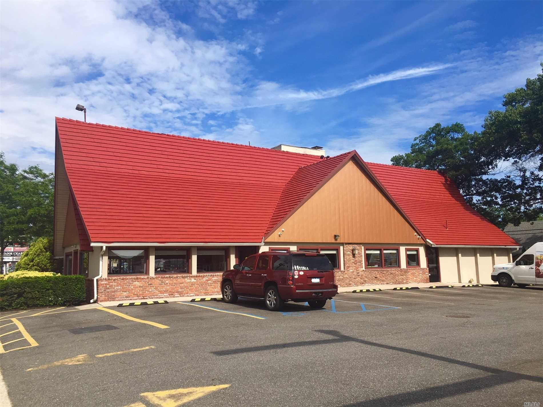 Former Restaurant Located Across From The Massapequa Park Lirr Station -- Completely Renovated In October 2016 (New Electric, Flooring, Tile, Booths, Tables, Kitchen Equipment. Turn-Key Operation For The Right Business. Two Handicap Accessible Restrooms. Seating For 88 With 22 Parking Spaces. Office And Storage Space In Attic Space. Very Busy Location.
