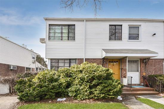 One Family Colonial Semi-Detached Home With Private Back Yard And Driveway In Bayside, Queens. Open Layout Living Room With Hardwood Floors, Half A Bath, Large Eat-In-Kitchen With Exit To Back Yard. Bright And Sunny 3 Bedrooms With 1 Bath On Second Floor With Closets. Sd#26.