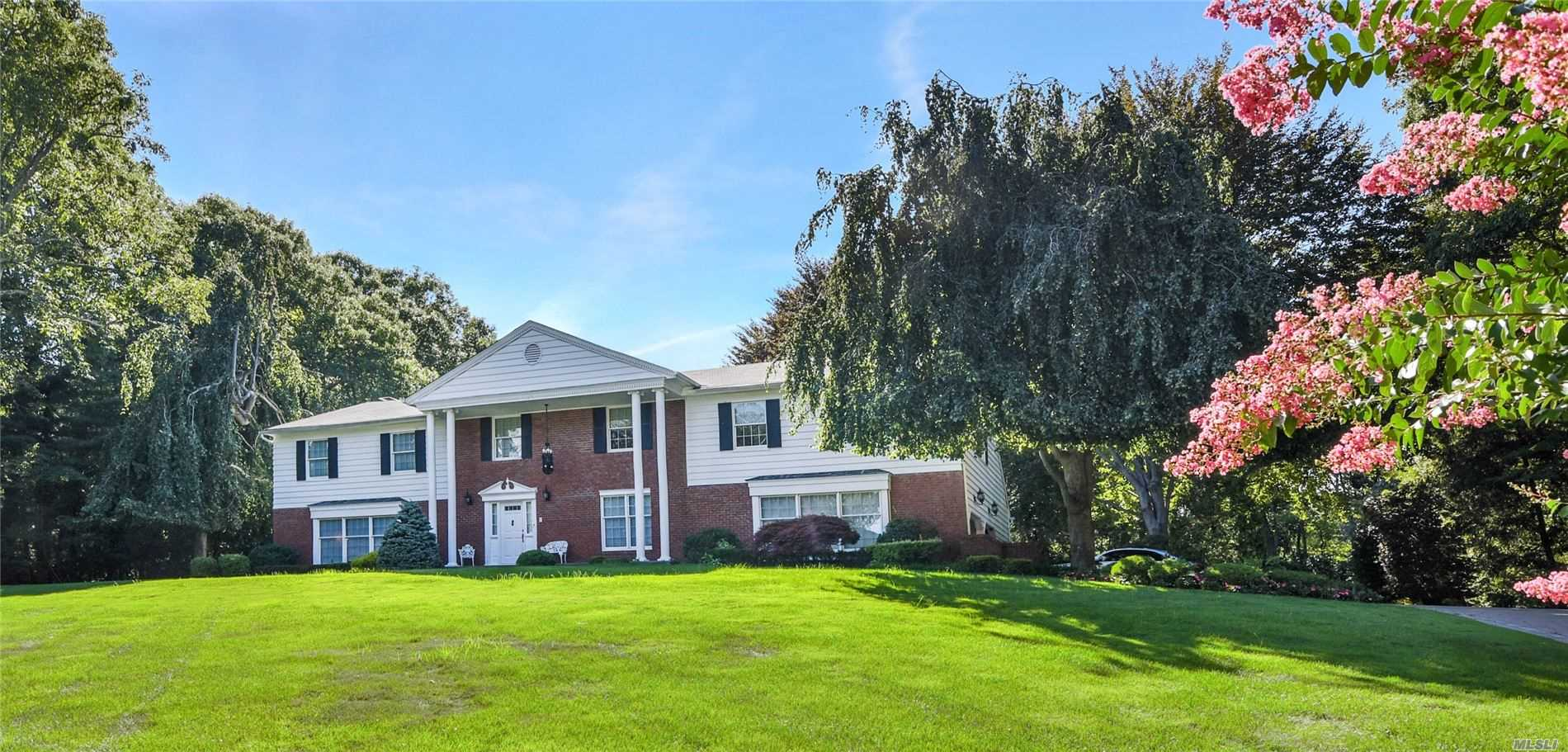 Elegance And Quality Abound , Approx.. 5, 000+ Sq. Ft. Diamond Updated Georgetown Colonial. Spacious 9 Room Home Features 4 Bedrooms, 4.5 Baths With Enclosed Sun Room Heated,  Cac And Sky Lights. Professionally Landscaped Grounds, 24 X 40 Heated Salt Water Gunite Pool, Approx. 1.3 Acres Of Privacy.