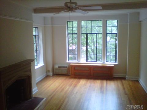 Bright Cheerful Studio In The Heart Of Forest Hills Gardens. Newly Updated Apt, 3 Large Closets, Hardwood Floors With Front Views And One Block To Lirr/E/F. Dm From 5P-1Am, Gym, Sitting Area, Parking Permit, Maint Includes All Utilities. Working Fireplace And Old World Charm. Exc Condition-Move Right In.