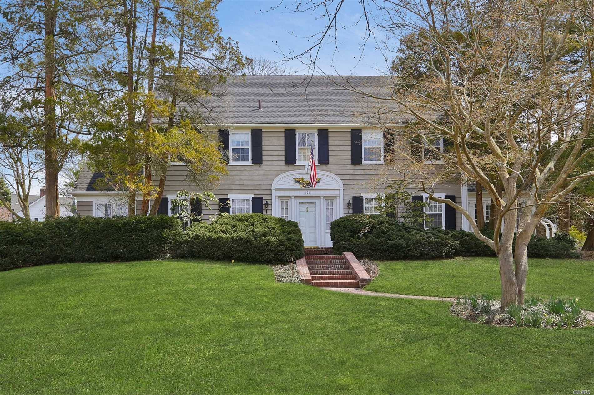 Traditional Center Hall Colonial, Every Window You Look Out, Says You Are  In 18. Garden City NY ...