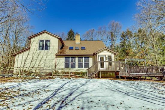 Horse Lovers Paradise Nestled On 1 Acre W/Access To 5600 Acre Preserve. Charming Home Offers New Eik W/Ss & Quartz, Lg Living Rm W/Fireplace, Cathedral Ceilings. Calming Master Suite W/Spa Bath, +2 Beds, Full Bath. Finished Basement, New Burner, Cac & Water Heater. Updated Roof, Siding & Windows. 4 Stall Barn, 100X100 Lighted Arena, Tack Rm, 3 Hay Sheds.