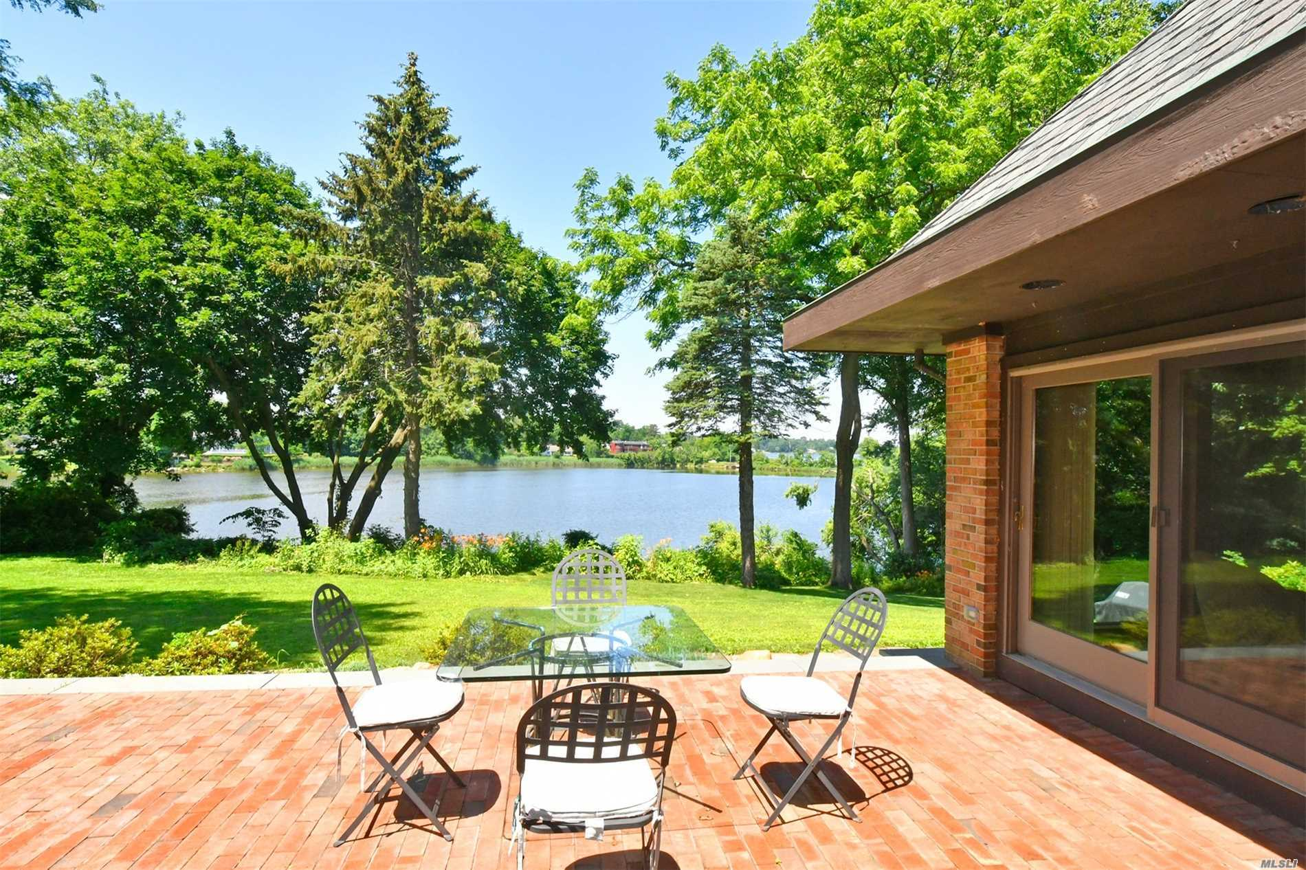 Welcome To This Unique, Custom Built Home Located On Leeds Pond With Views Of Manhasset Bay. A Long Driveway Leading To The Home Offers An Acre Of Land, Privacy And Tranquility Not Seen In Most Homes. Fabulous Design And Layout To This California Inspired Home, This Home Is Large But Welcoming & Its Lg Picture Windows Let You Enjoy The Views & Birds From The Comfort Of Almost Every Room. Its Location Near Plandome Station & Country Club Is Priceless.
