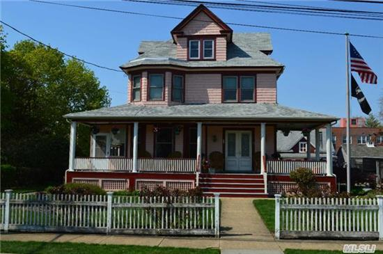 Stately Victorian On .43 Acres. Wrap Around Porch, Beautiful Details With Old World Charm. Large Rooms With 9' Ceilings, Banded Floors, 2-Car Detached Garage And Storage Shed On Pool-Sized Property. A Rare Find With Big Potential.