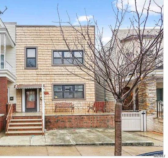 Semi Detached Two Family That Will Be All Vacant On Title. First Floor Has A Large Lr With Sliding Glass Door That Leads To A Huge Rear Deck. Modern Kitchens And Bathrms, Wood Floors.