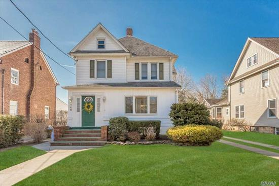 This Well Maintained Colonial Offers 2500 Square Feet Of Terrific Living Space. It's Located On A Quiet Tree Lined Street In The Village. It Offers A Renovated Kitchen & Bathrooms, A Bedroom On The 1st Floor (Currently Used As A Playroom), Laundry On The First Floor, 2 Zone Central Air, New 4 Zone Gas Heat, 200 Electric Service, In-Ground Sprinklers & Large Property With Stone Patio In The Backyard. Location Convenient To Transportation! Note: Current Property Tax Grievance Filed.