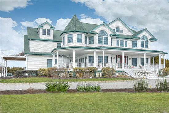 Currently serving as a Bed and Breakfast, this 8, 500 sqft Victorian home offers 8 bedroom suites, an additional half bath and views of the bay and creek. The spacious, eat-in kitchen offers double dishwashers and double ovens, plenty of counter space and leads to side decking for outdoor dining. Open living areas flow into one another and into the dining area, which all lead to the backyard, in-ground pool and expansive decking. Finished basement with gym, dance studio, bedroom, bath and office.