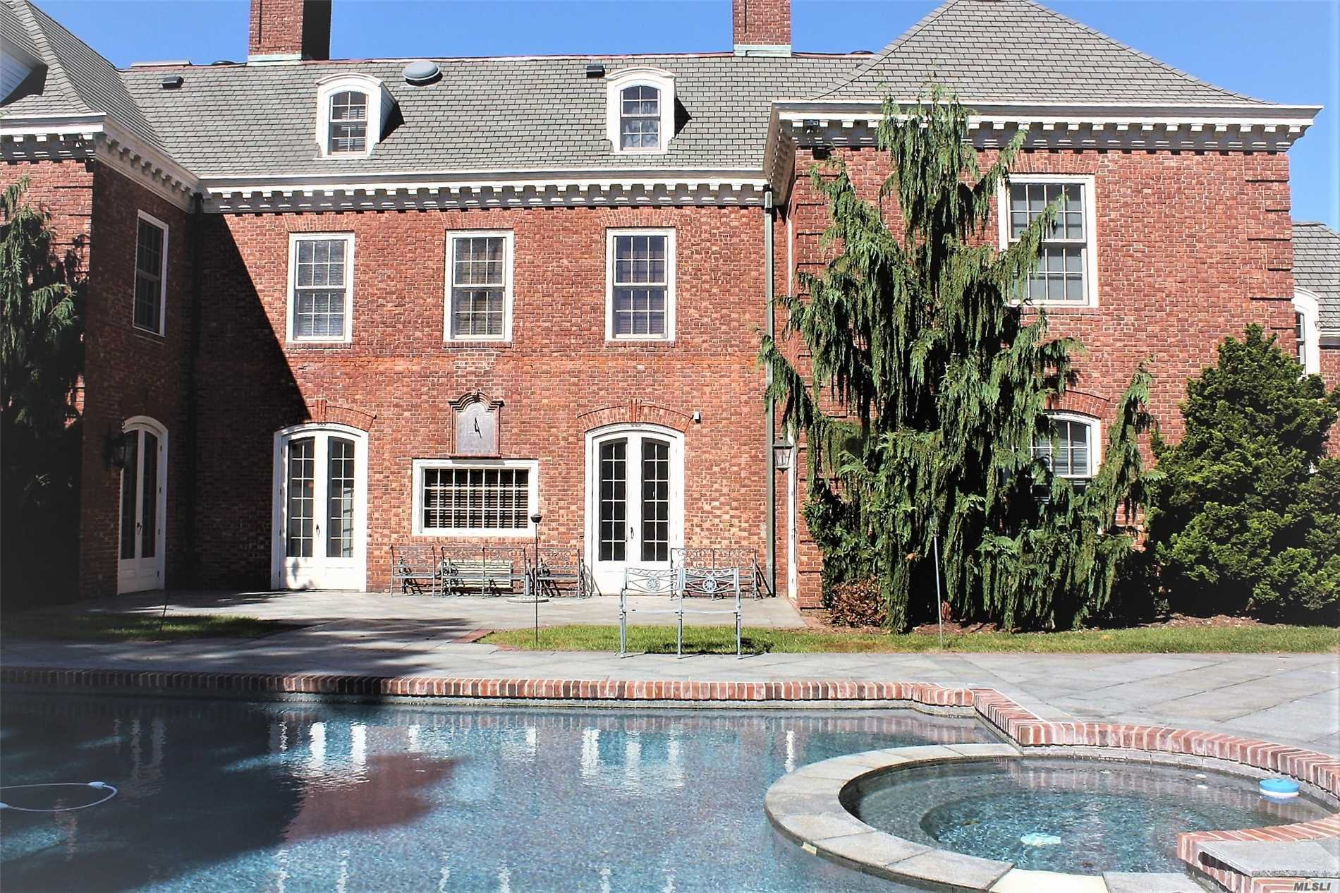 Old World Charm.Impressive Brick Estate With Fine Architectural Details, Set On 2 Bucolic Acres W/Pond, Ensuite Bedrooms, Large Master Suite With His/Her Baths. Formal Dining And Ball Room Are Impressive For Entertaining. Multiple Sets Of French Doors Lead Out To The Gorgeous Heated, Salt Water Pool With Spa And Cabana. Garages For 3 Cars And A Har-Tru Tennis Court Add To This Amazing Property. Syosset Sd#2. Convenient To All Major Commuting Lines And Highways. Oversized Rooms.