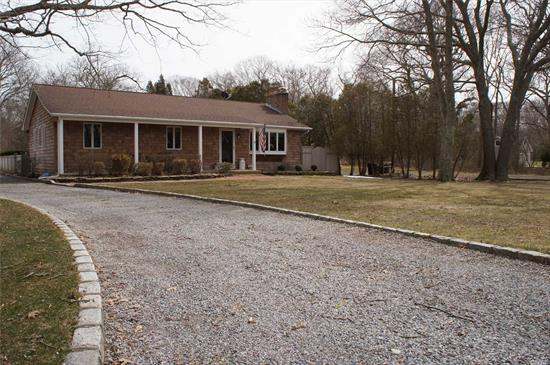 Beautifully Maintained 1Acre, 3Bedroom, 2Bath Ranch, Hardwood Oak Flooring. Choice Of High Schools(Westhampton, Center Moriches Or Esm) Hardwood Floors, Central Air, Wood Stove, Finished Basement & Private Back Yard With In-Ground Pool And Pavers. Take Long Walks Right Behind Your Own Property In Terrell River County Park Preserve Located South Of Montauk Highway In East Moriches, Formerly Known As The Havens Estate 263-Acre Preserve. Trails Lead To A Beautiful Beach On Moriches Bay. Must See