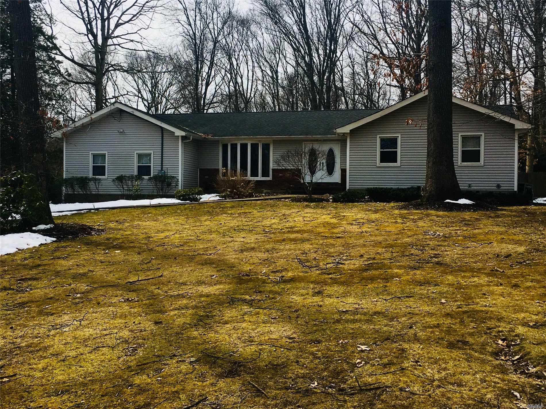 Don't Miss This 3 Bedroom, 3 Bath Ranch Home Located On A Quiet Tree Lined Cul-De-Sac. Lots Of Windows To Enjoy The 1 Acre Park- Like Private Property. Master Suite With Bath, Oversized Den With Fireplace, Perfect For Entertaining And Family Fun...