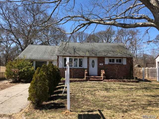 This Home Has Beautiful Brick Facing. Every Chefs Dream Kitchen W/ Brand New Appliances, And Cherry Wood Cabinets. Brand New Wood Flooring Throughout. New Windows And Open Walkways Giving Living Space A Large Open Feel. 3 Bedrooms, Master Featuring Large Walk-In Closet. Full Finished Basement For Possible Rental Apartment With Proper Co's And Permits. Located Close To Middle Country Rd For Easy Commute. Located Close To Public Transport, Shopping, And Restaurants.