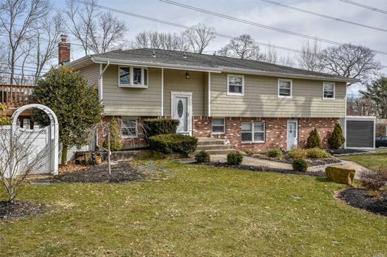 Expanded Hi-Ranch Features Huge Two Level Extension ( 1200 Sq Ft Extension 15 X 40 Up And Down) Custom Kitchen W/ Ss Appliances/Granite, Hardwood Floors, Anderson Windows, Master En-Suite With Wic, Cac. Lower Level Den With Fireplace,  2 Tiered Deck. Quiet Dead End Street