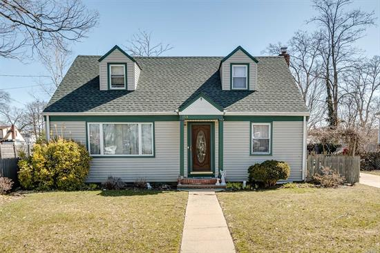 3 Bedroom, 2 Bath Cape With Hardwood Floors Throughout, Eik, Lr, Formal Dr, Cac, Gas Heat, Separate Hw Tank, Possible 4th Bedroom, Washer And Dryer Are Less Than 1 Year Old With Transferable 10 Year Extended Warranty. Parklike Oversized Property.